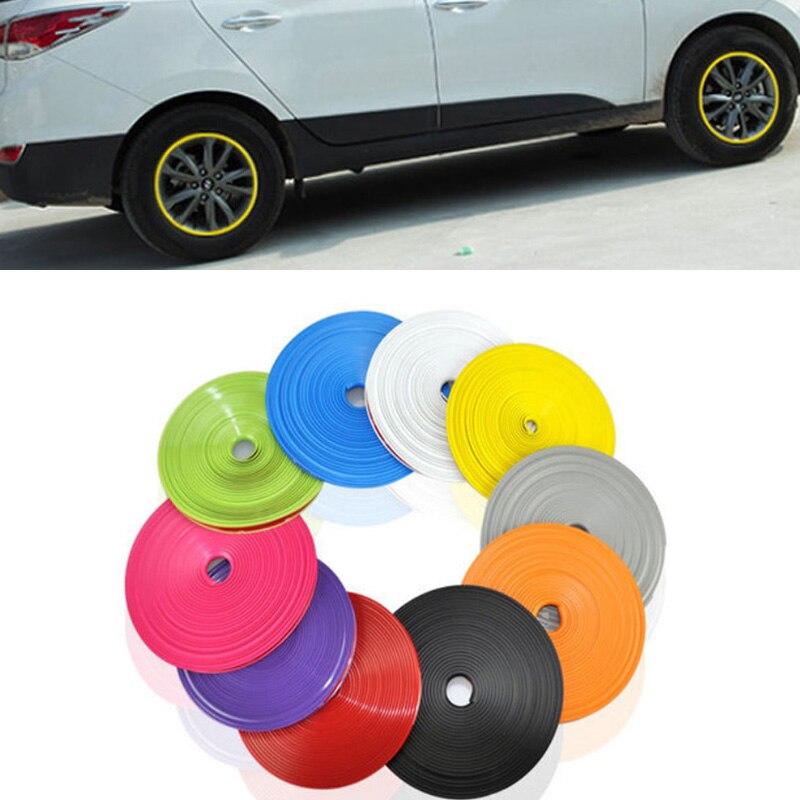 Estilo do carro Pneu Pneu e Aro protetor Cubo Da Roda Adesivos tira para Yugo Zastava 10 Florida Skala/Scion FR-S iA iM tC xA iQ xD