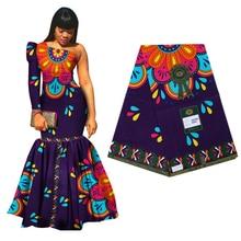 Beau 100% coton Ankara africain imprime Batik Tissu véritable cire Tissu haut matériel de couture pour robe de soirée artisanat bricolage