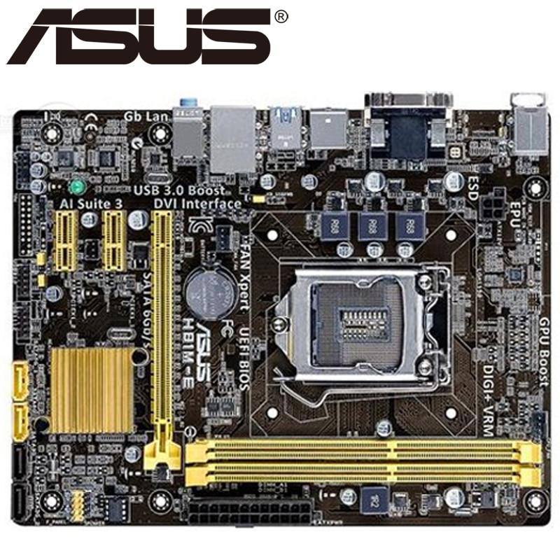 Asus H81M-E настольная материнская плата H81 Socket LGA 1150 i3 i5 i7 DDR3 16G Micro-ATX UEFI BIOS оригинальная подержанная материнская плата горячая распродажа