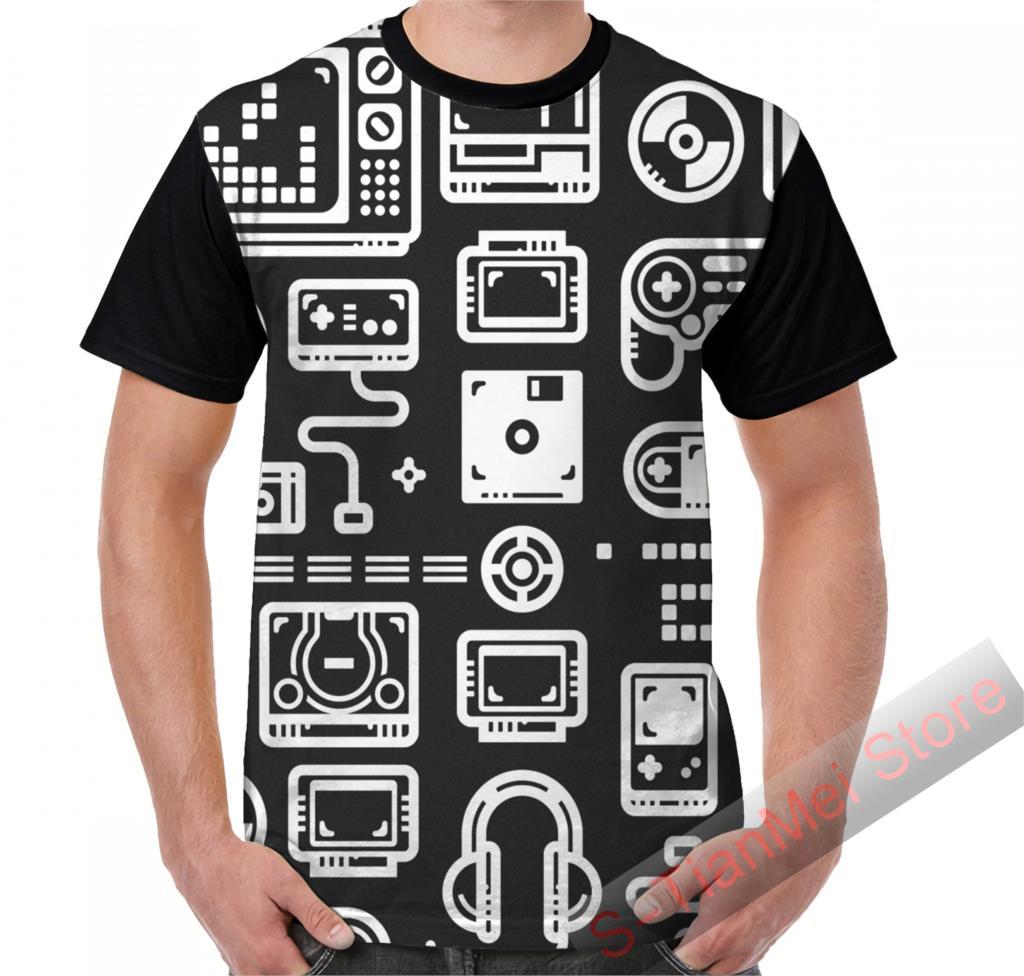 Camiseta gráfica, camisetas para hombre, camisetas Retro para jugadores, consolas de videojuegos, controladores de PC, Joysticks y Gamepads, camiseta estampada para mujer