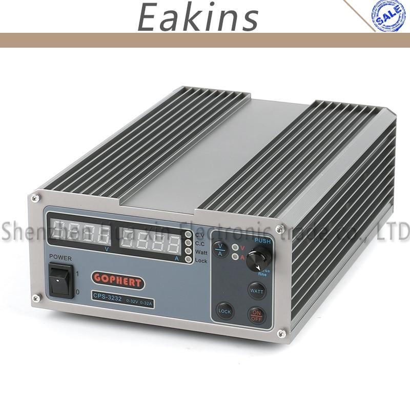 Nova atualização CPS3232 Laboratório Compact Digital Ajustável DC Power Supply OVP/OCP/OTP MCU PFC Ativo 32 V 32A 170 V-264 V + Cabo