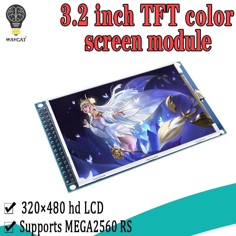 WAVGAT 3.2 inch TFT LCD screen module 3.2'' HD 320X480 For Arduino MEGA2560 R3 STM32 C51 Demo Board