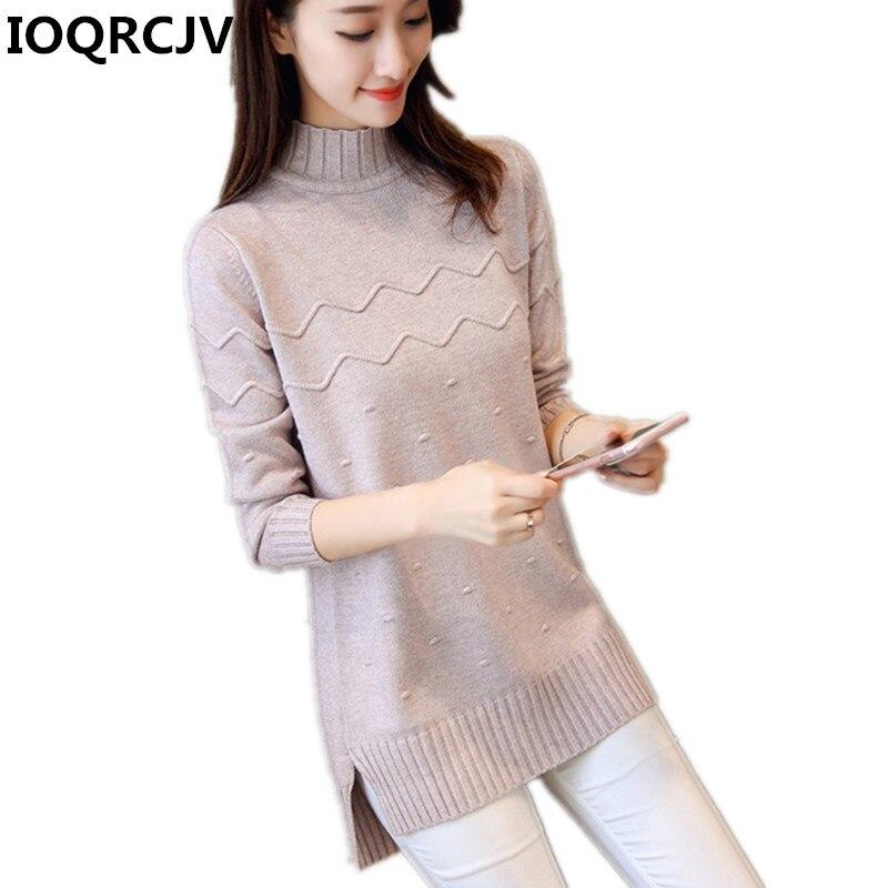 2019 outono feminino blusas mini vestido e pulôveres sólida gola alta magro casual senhoras malha camisolas jumper femme pull r579