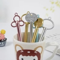 100 pcs key neuter gel pen cute creative retro stationery office supplies small gifts for students kawaii school supplies