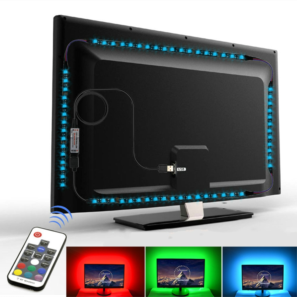 Tira de luces led rgb smd 5050, 5v, usb, para tv, luces...