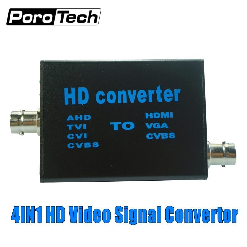 Wholesale 10pc/lot 4in1 HD Video Signal Convertor AHD to HDMI Signal Convertor AHD41 TVI AHD CVI CVBS to HDMI VGA CVBS converter