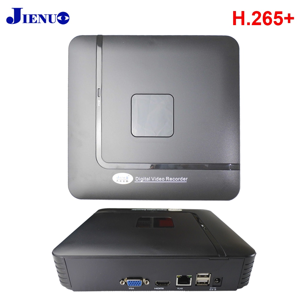 JIENUO البسيطة NVR 4CH 8CH H265 + ONVIF 2.0 مسجل 4 قناة 8 قناة للكاميرا IP NVR نظام مراقبة الأمن HD CCTV NVR