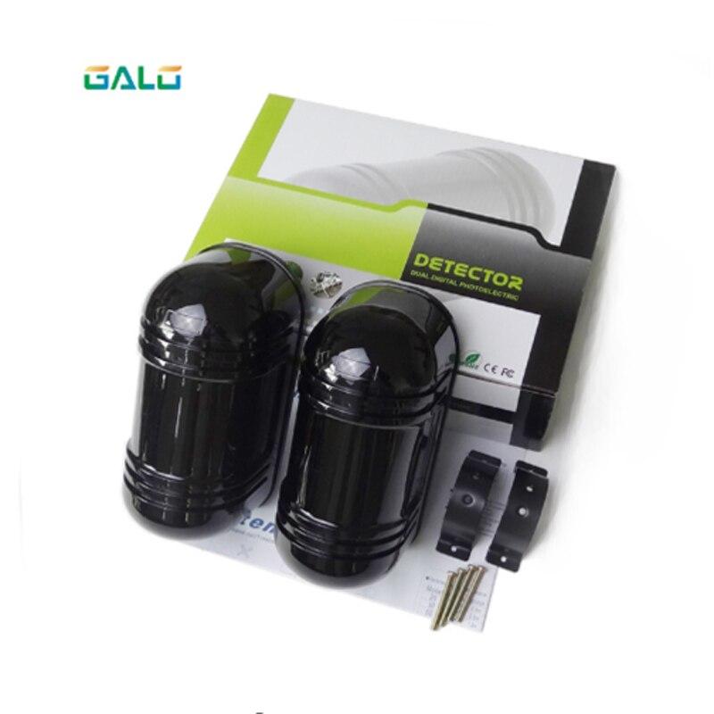 Sensor de alarma de 150m Detector infrarrojo de doble haz fotoeléctrico para soporte de seguridad del hogar conectado a la alarma