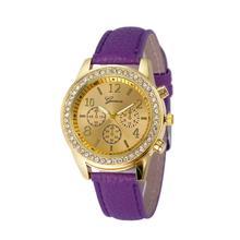 quartz wristwatches pu leather band womenwatches alloy luxury Quartz dropshipping Crystal swatch women Relogio Feminino SE0805
