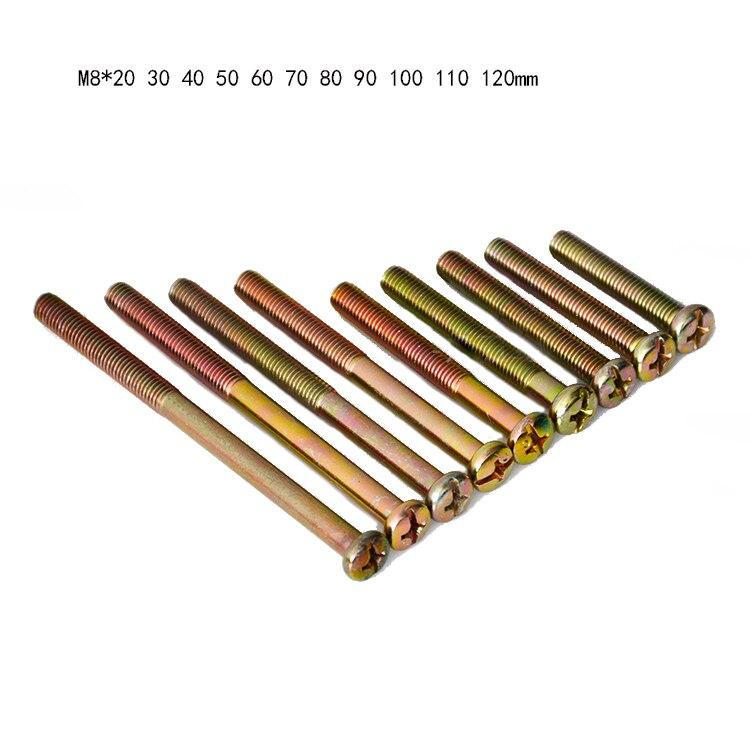 M8 X20 30 40 50 60 70 80 90 100 de 110 de 120mm de los niños cama de bebé de madera muebles fijación travesaño tuerca fiting placa barra conector