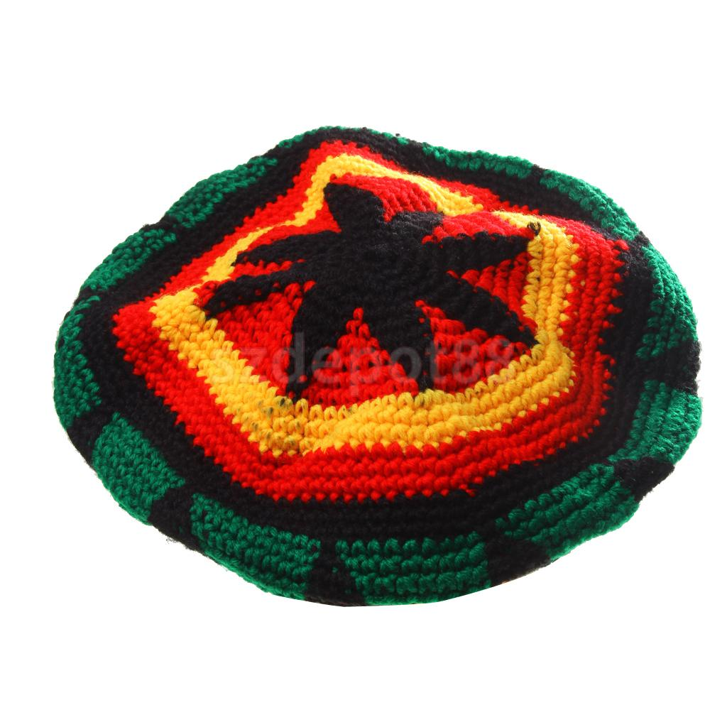 Multicolor Acryl Jamaika Rasta DreadLock Wurzeln Tam Hut Rasta Beanie Caps