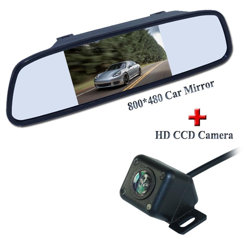 Promoção de fábrica Para 4IR Night Vision New Câmera Reversa Com Monitor Do Carro Câmera de Visão Traseira Do Carro Monitor Espelho Frete Grátis