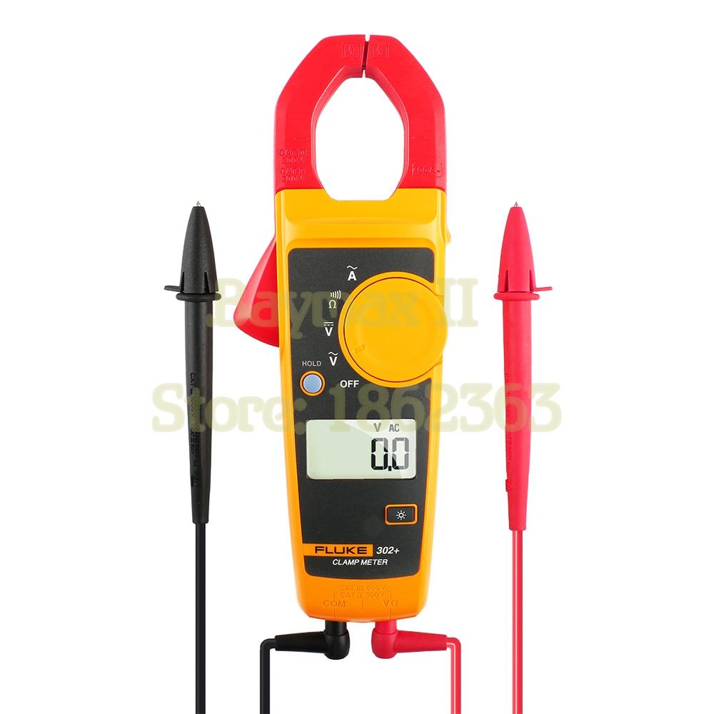 Fluke-302 AC 400A مشبك رقمي ، مقياس جهد التيار المتردد/التيار المستمر مع أوم ، قياس الاستمرارية