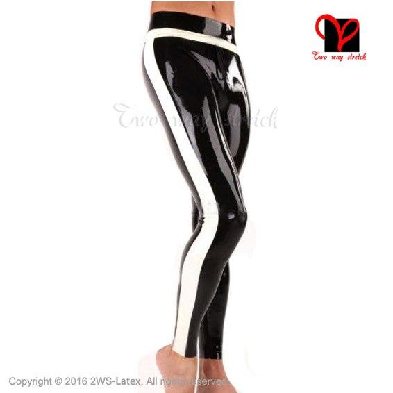 Sexy Latex Jeans with trims Rubber Gummi Bottom leggings Trousers bottoms pant XXXL plus size pants KZ-101