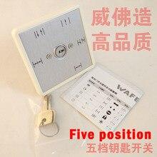 Interrupteur de clé automatique à cinq positions   Porte automatique (interrupteur de clé de Type DORMA), commutateur de sélection de fonction de porte automatique (très bonne qualité)
