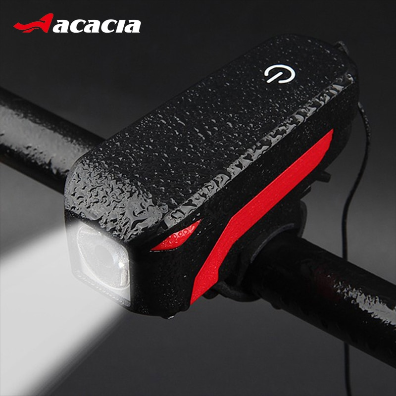 140 db bicicleta Bell 2 en 1 carga USB bicicleta cuerno + luz faro ciclismo multifunción eléctrica bocina bicicleta campana 4 modos