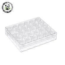 Contenants de perles en plastique boîte transparente pour bijoux perles strass Nail Art emballage colonne bouteille: 26x29mm, 30 pièces/ensemble