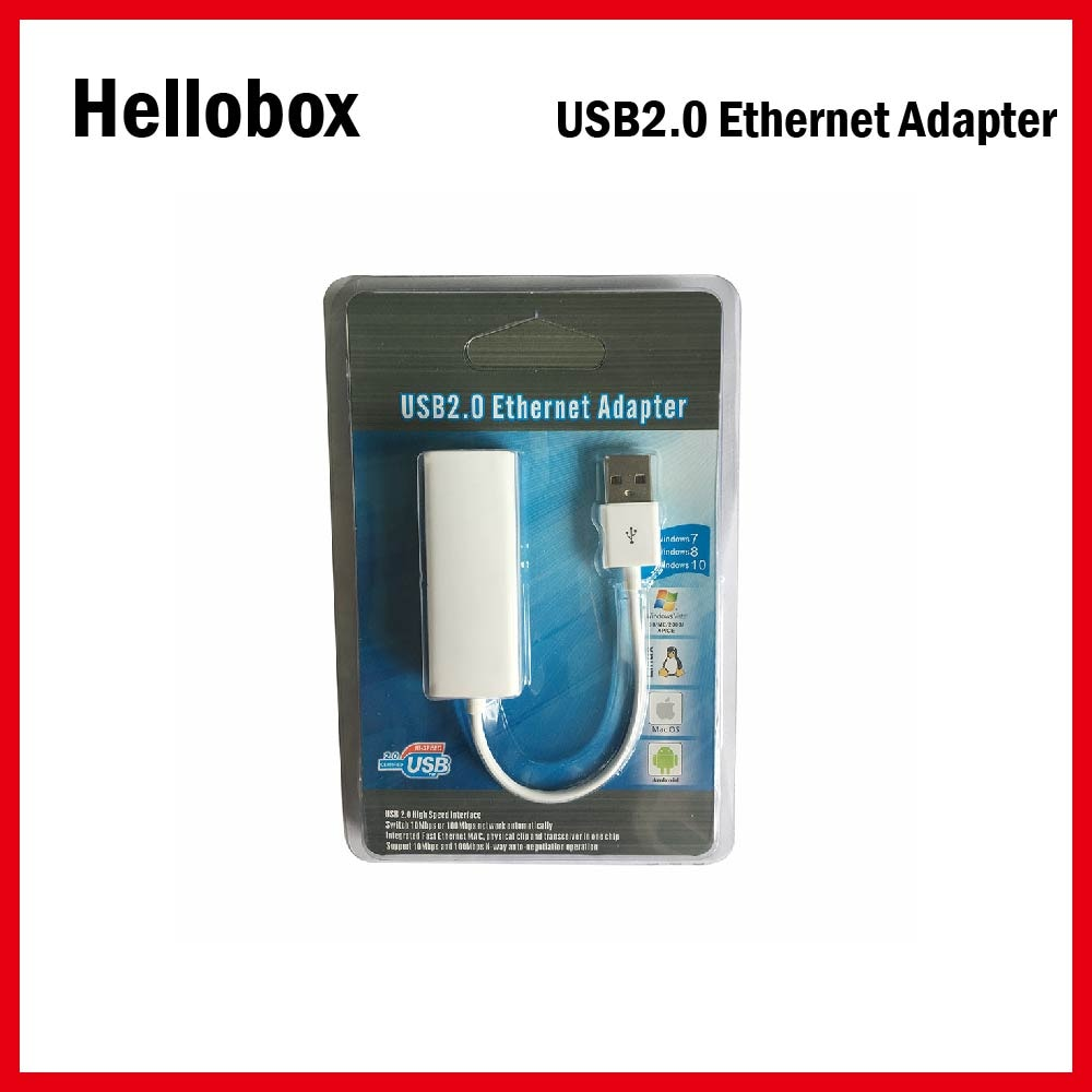 USB к интерфейсу LAN адаптер для Hellobox V5 USD2.0 коммутатор сети автоматически