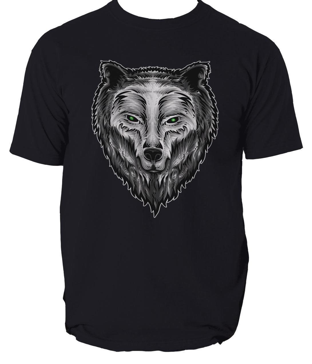 Летняя мужская футболка 2019 с изображением духа защитника Мужская волка