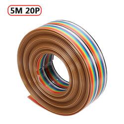 5 M 1.27mm 20 P DuPont Linha de Cabo Rainbow Flat Suporte de Arame Soldada