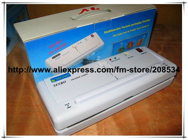 Free Shipping! Giving quick-wear part! 220V SINBO DZ-280 Household Plastic Bag food vacuum sealer sealing packing machine
