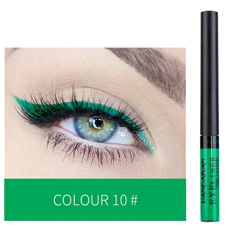HANDAIYAN 12 Fashion colors liquid eyeliner cosmetics waterproof long-lasting without smudging goes on smoothly 30sets/lot DHL