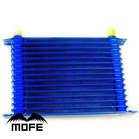 HIGH QUALITY Aluminum 15  Row Auto Oil Cooler AN10 Blue