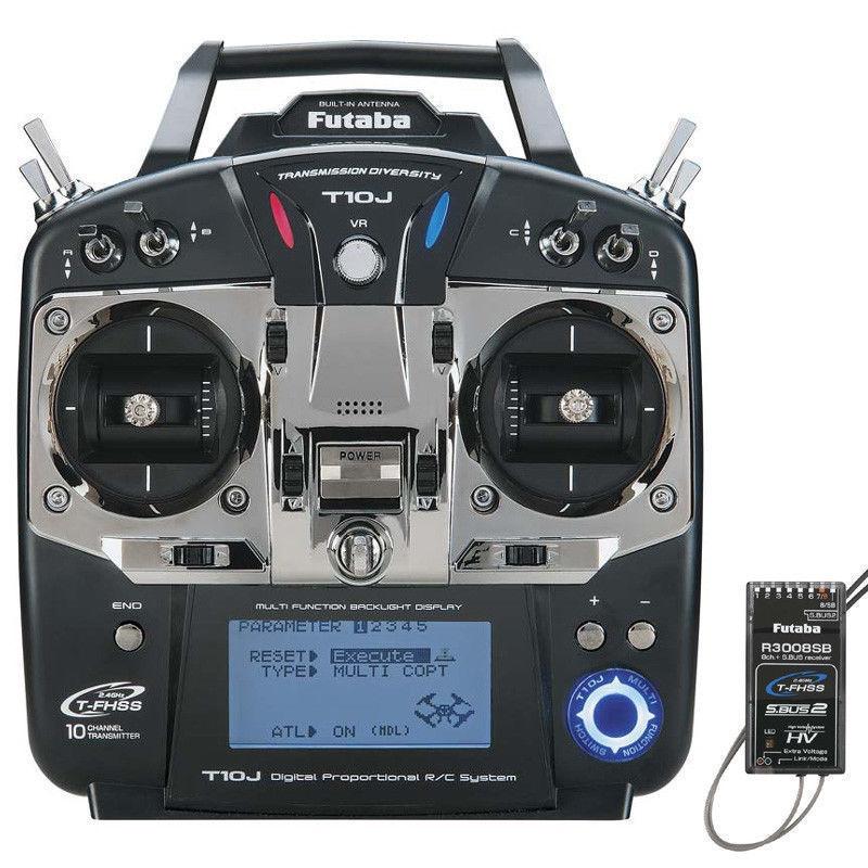 Envío Gratis T10J 10CH 2,4 GHz T-FHSS transmisor de Radio R3008SB receptor acelerador izquierdo/derecho para heli/barco/avión