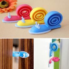 Arrêtoir de porte en plastique souple   Pour la sécurité de la maison, protection des enfants, en forme descargot, 3 pièces/lot
