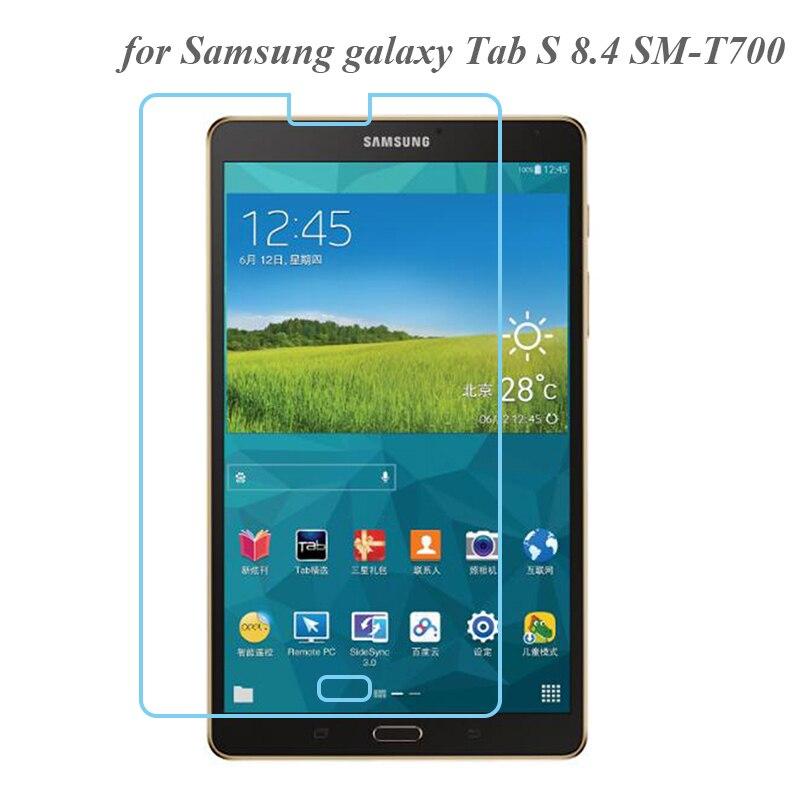 Protector de pantalla para Samsung Galaxy Tab S 8,4 vidrio templado 0,3mm 9H película para 8,4 pulgadas Samsung SM-T700 SM-T705 vidrio transparente