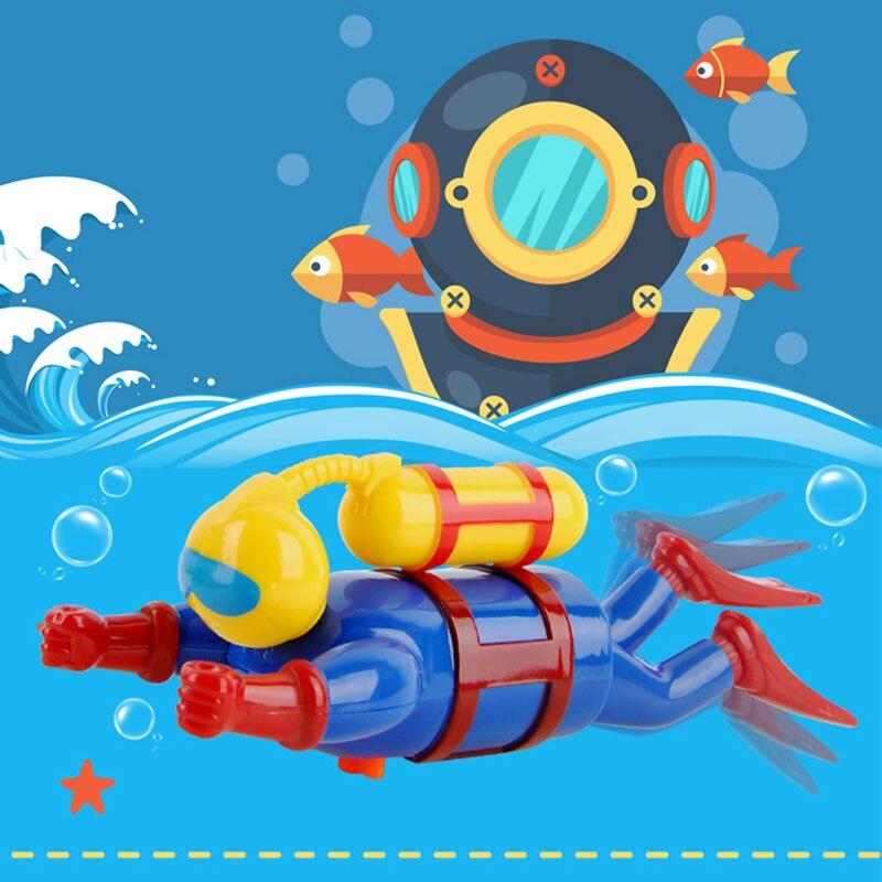 Juguetes para niños, muñeca de buceo, remo, mecanismo de relojería, natación, buceo, juguetes de baño, reloj, juguete de trabajo, juguetes educativos para niños