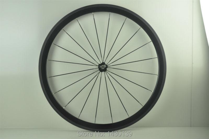 Livraison gratuite 1 pièces 700C 38mm pneu jante piste à engrenages fixes vélo de route 3K UD 12K vélo en fiber de carbone roues 20.5 23 25mm de largeur