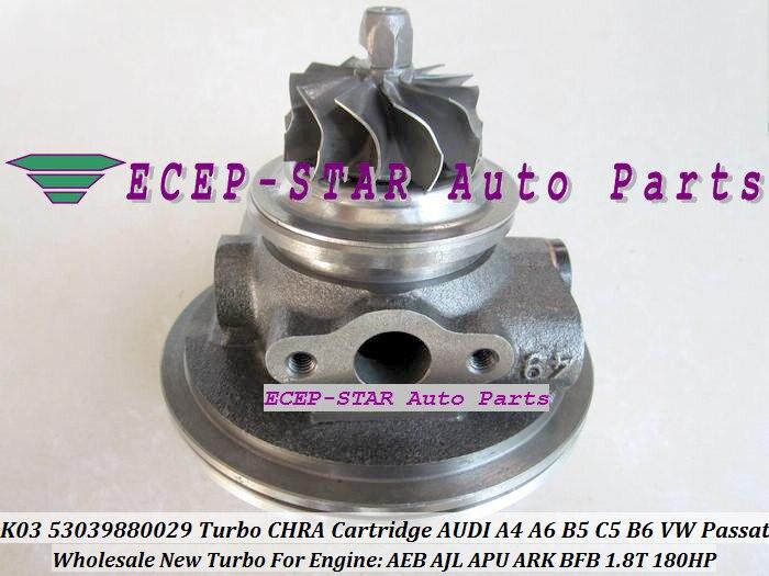 Turbo CHRA núcleo de cartucho K03 53039880029 53039700029 058145703J para AUDI A4 A6 B5 C5 B6 para VW Passat B5 1,8 T BFB APU Arca 1.8L