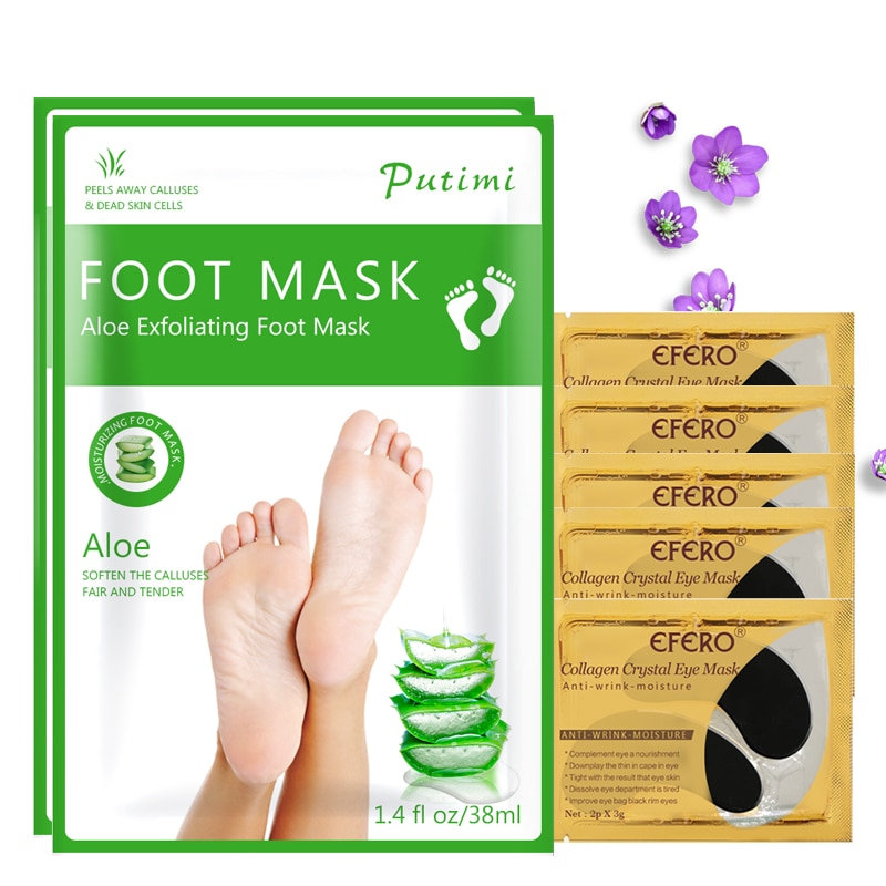 Moiaturizing Aloe Foot Mask Peeling Dead Skin Calluses Feet Mask Patch Whitening Eye Mask Gel Patch Anti Aging Eye Skin Care