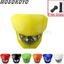 Suzuki DR650 DRZ400 RM85 450 DRZ 125   Phare Motocross, Dirt Bike, jaune, masque frontal universel