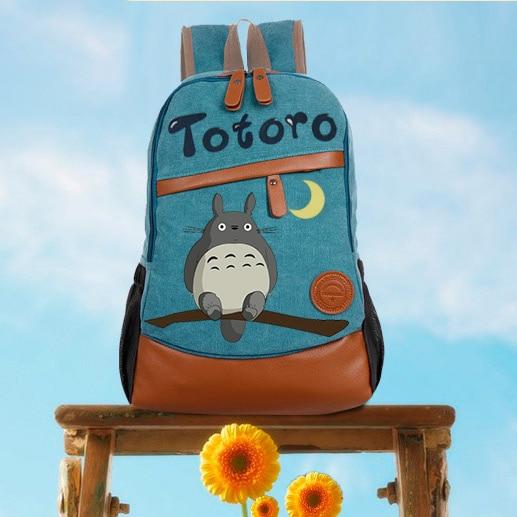 أنيمي Tonari لا توتورو تأثيري باليد رسمت الذكور و الإناث الكورية المد طالب حقيبة diy شخصية على ظهره
