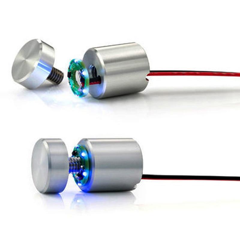 الضوء الأزرق LED Lumi إصلاح مواجهات مضيئة مجموعات ، ويدعم علامات تصل إلى 3/8 بوصة سميكة ، جدار جبل 3-d العرض
