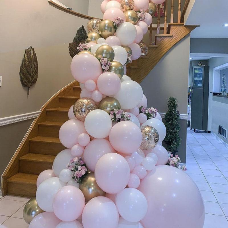 50 stücke 20 stücke Rosa Farbe Macaron Ballons Geburtstag Party 2,2g Pastell Ballons Luft Helium Deco Geburtstag Baby Dusche jungen Mädchen S6XN