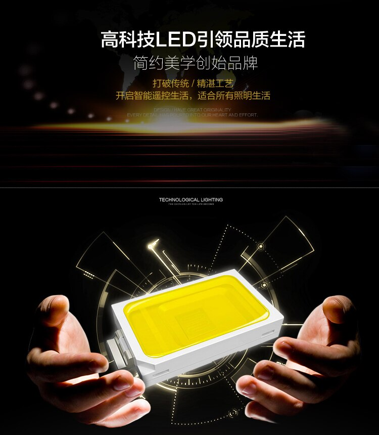 High quali factoryLED 6 light Dimmer Remote Control LED 30W K9 Crystal Chandelier Lihting Transparent Size:68*68*78cm 110v 220v  - buy with discount