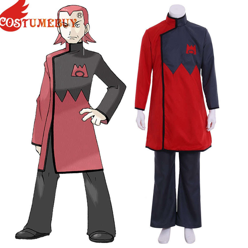 Costumebuy アニメポケットポケモンチームマグマリーダーマキシードレスコスプレ衣装服ハロウィンパーティーカスタムメイド