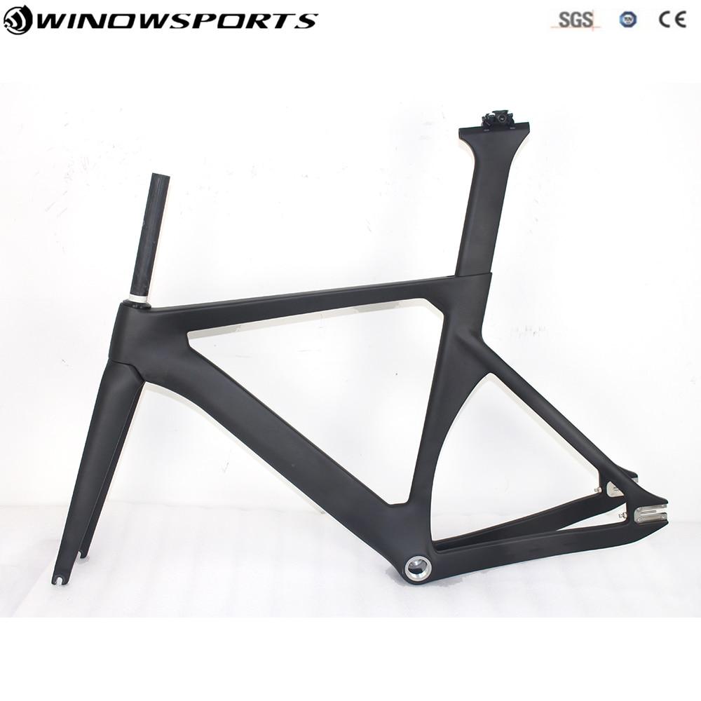 2018 nuevo completo carbón riel estructura camino marcos piñón fijo bicicleta de Marcos con tenedor tija de sillín cuadro de bicicleta de carbono