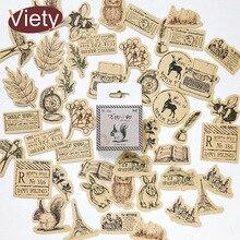 46 pièces/lot Vintage petits animaux coller mini papier autocollant décoration bricolage ablum journal scrapbooking étiquette autocollant kawaii