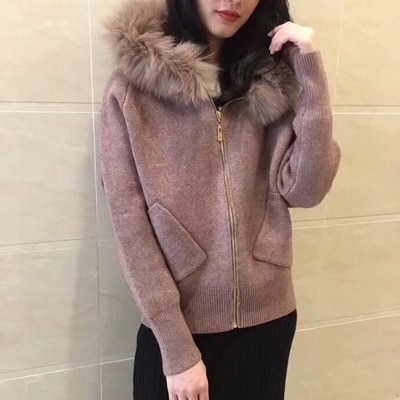 2020 Poncho Jumper Computer Knitted Hooded Full Cardigans Winter New Women's Sweater Real Hat Cashmere Knit Jacket Woman Women enlarge