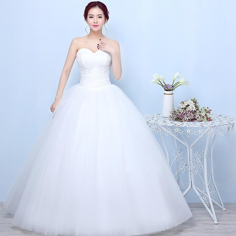 Popodion-فستان زفاف من الدانتيل ، مقاس كبير ، بدون حمالات ، للزفاف