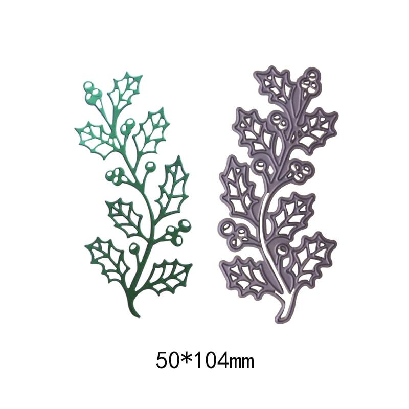 Natural plant tree leaves metal cutting dies new 2018 Scrapbooking Stencil Craft die cut paper card Embossing photo ablum
