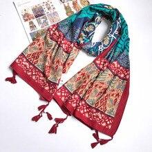 Las mujeres de algodón pañuelo tótem Vintage chal tallas grandes de estola con flecos pañuelo nuevo [1838]