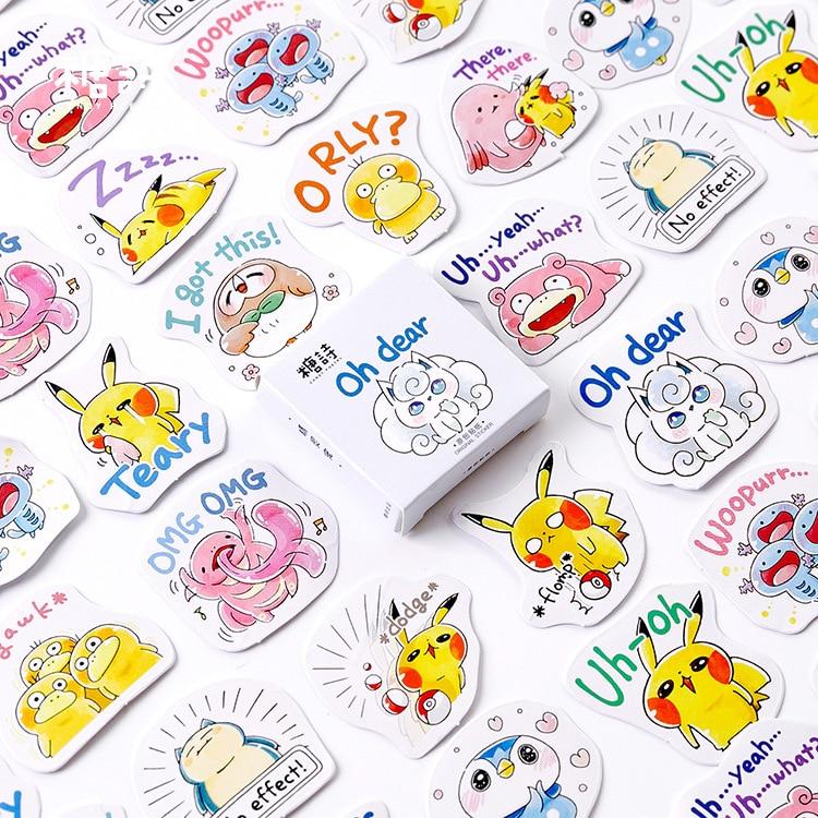 45pcs/pack Kawaii Animals Party Stickers Set Decorative Stationery Stickers Scrapbooking Diy Diary Album Stick Label