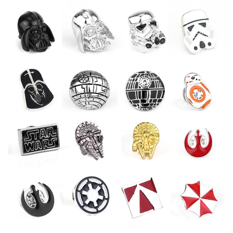 Star Wars Brooch Pin Stormtrooper Enamel Pin Star Wars Darth Vader Rebel Alliance Falcon badge lapel pin men women Movie Jewelry