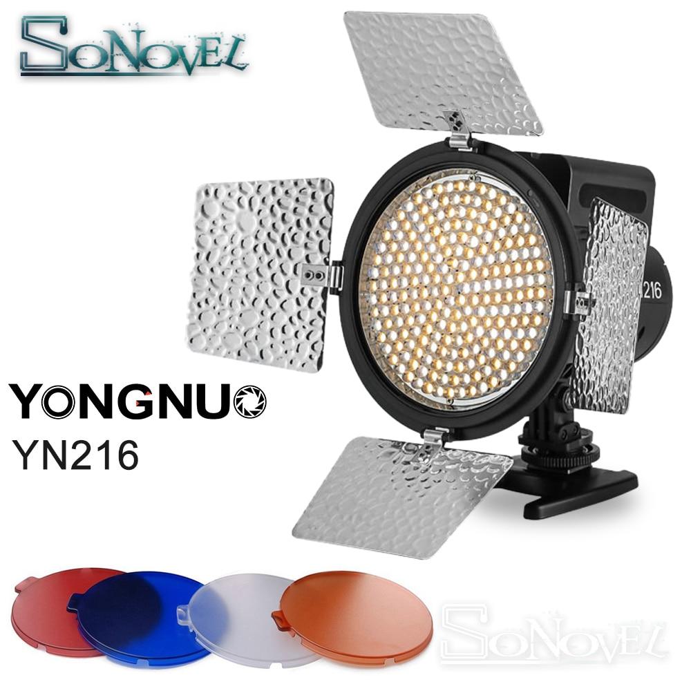 YONGNUO YN-216 YN216 برو LED فيديو ستوديو ضوء 5500K لكانون نيكون سوني باناسونيك أوليمبوس DV JVC كاميرا DSLR