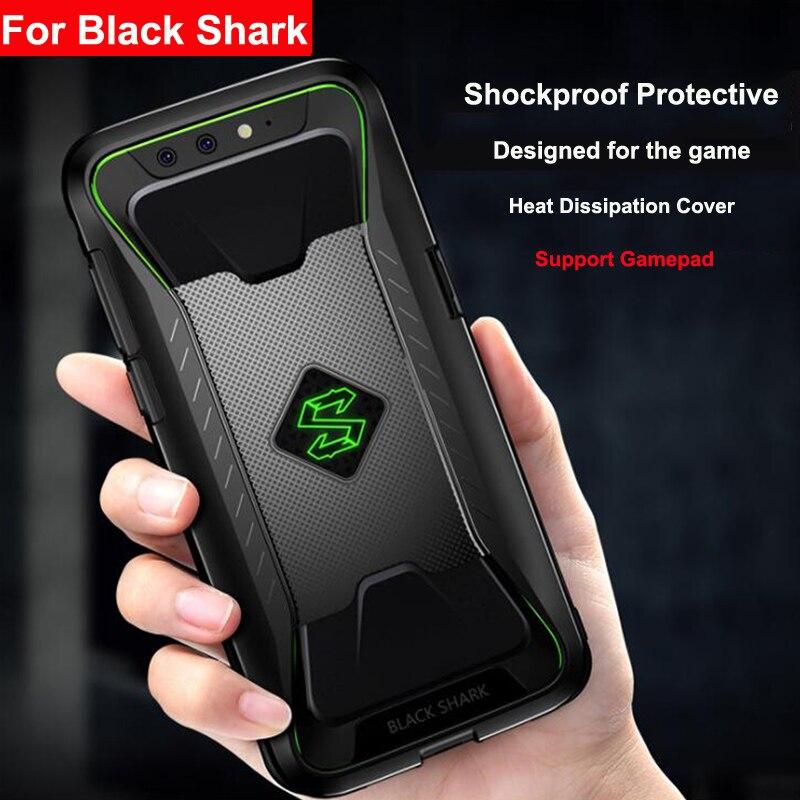 Ударопрочный ТПУ мягкий чехол для телефона Xiaomi черный чехол с акулой крышка с рассеиванием тепла поддержка геймпад для xiaomi Mi BlackShark 1